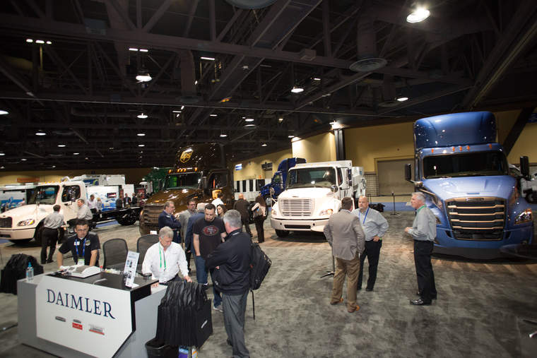 Daimler advanced technology trucks at the ACTExpo