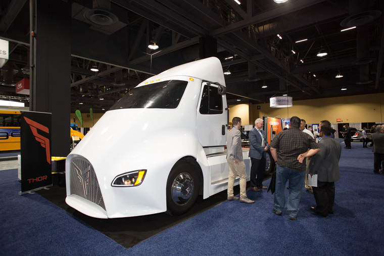 Thor electric semi-truck