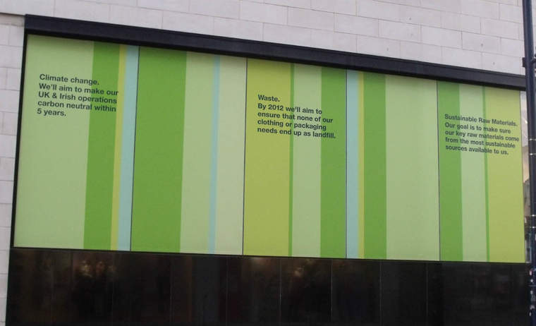 Marks & Spencer store with sustainability goals