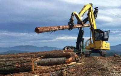 crew in southwestern Oregon hauls log