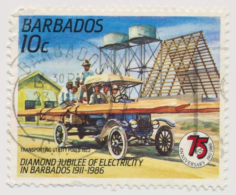 Barbados postage stamp