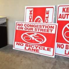 Bikelash signs