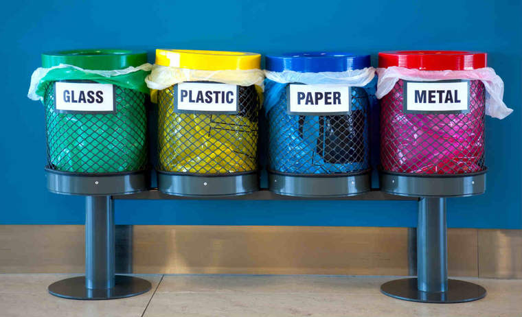 Color Coded Recycle Bins