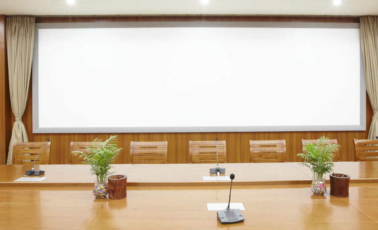 Boardroom with plants
