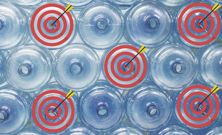 bottles and targets