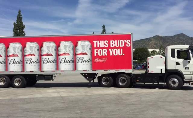 Anheuser-Busch's electric delivery trucks