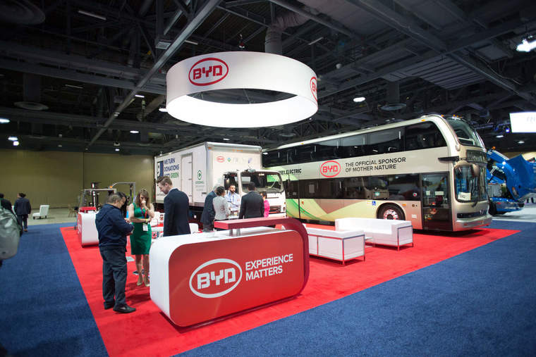BYD expo booth