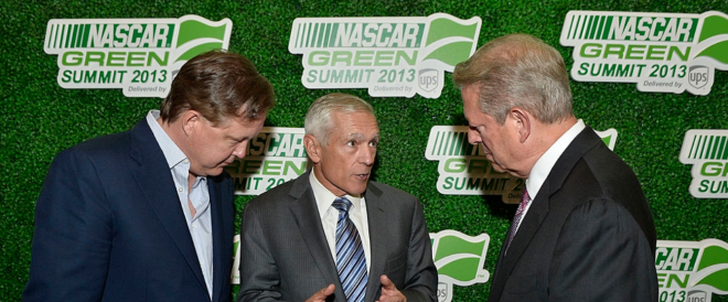 CEO of NASCAR and Al Gore meeting