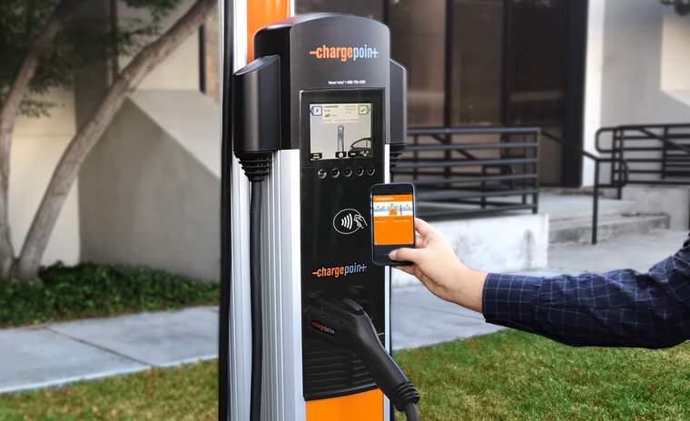 ChargePoint EV charging station