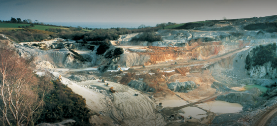 China clay pit in Cornwall