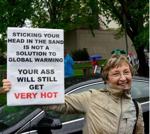 Climate protester in Washington, D.C.