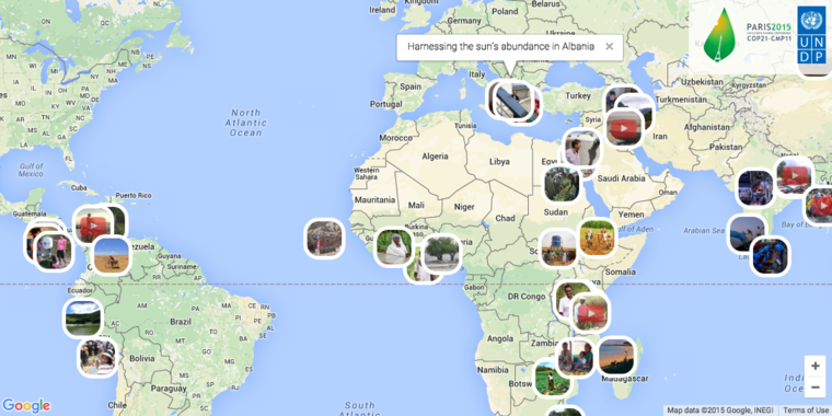 Climate Stories map