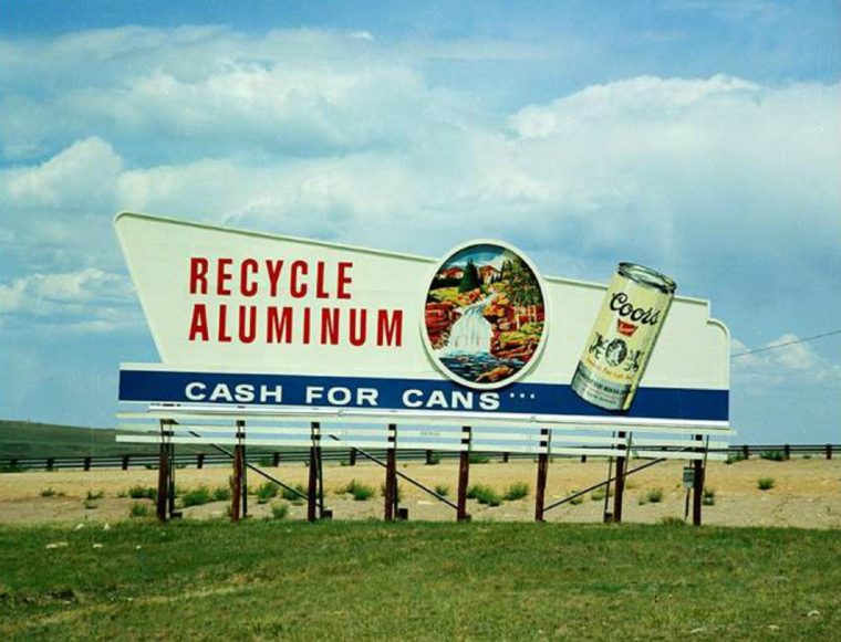 Recycling sign from Coors