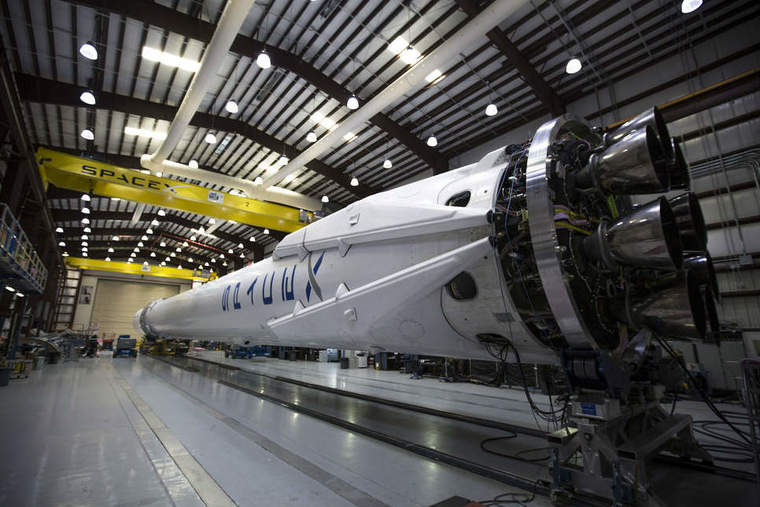 SpaceX CRS-Falcon 9 in hangar