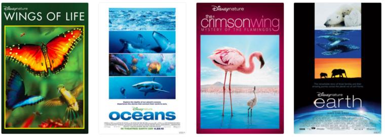 Disneynature film titles
