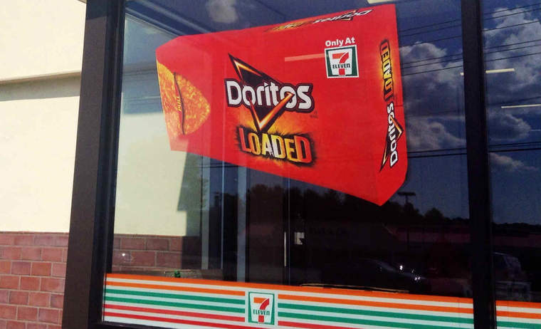 Doritos Loaded sign at 7-11