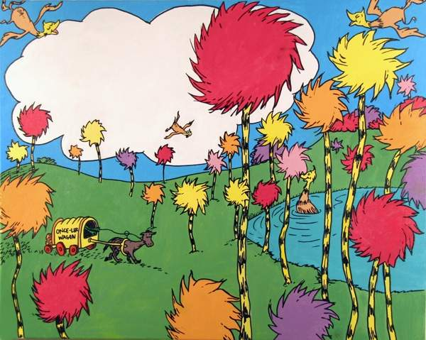 "The Truffula tree from the Dr. Seuss book, ""The Lorax"""