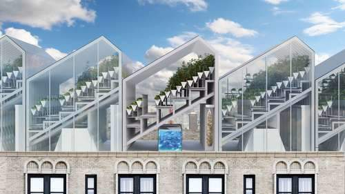 Edenworks' vision of rooftop aquaponic greenhouses.