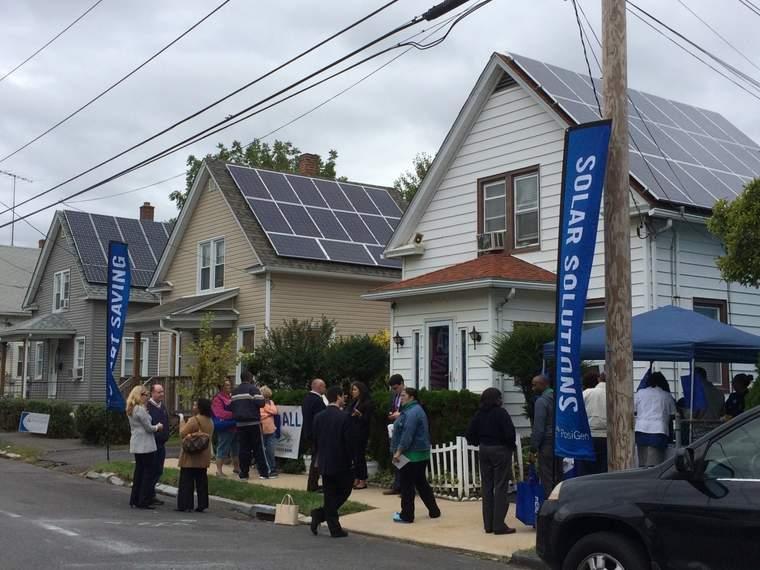 Installations from the Connecticut Green Bank's Posigen program in Bridgeport, CT.