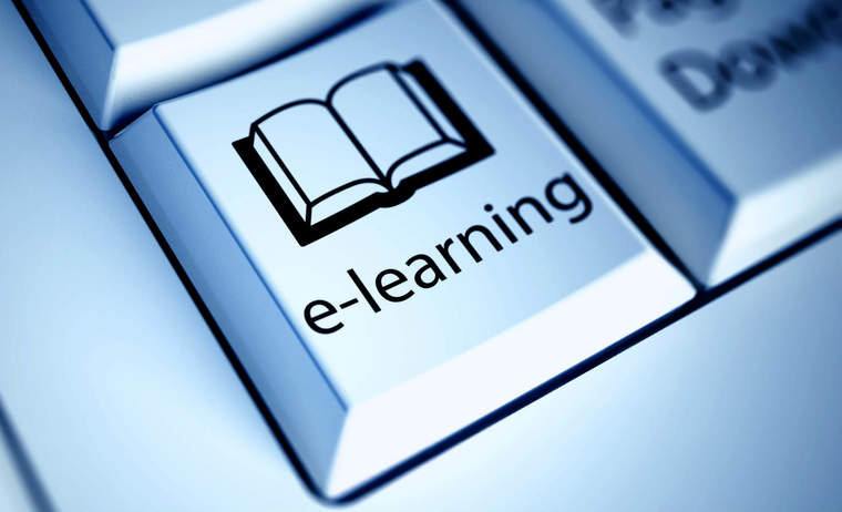e-learning button on computer