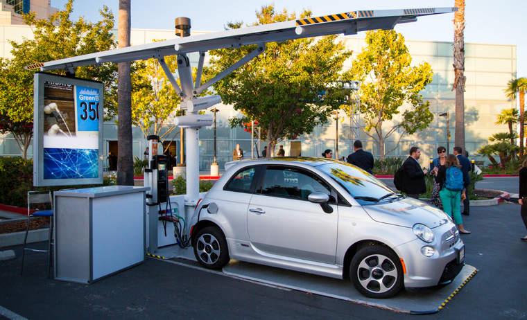 The EV ARC solar electric car charging system