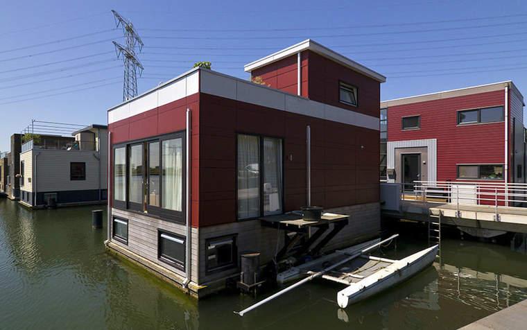 Floating houses in IJburg, Amsterdam