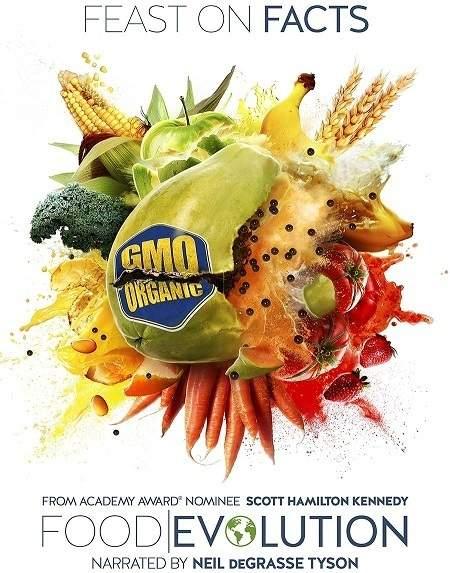 "The ""Food Evolution"" film poster."