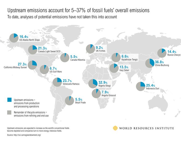 Fossil fuel map, WRI