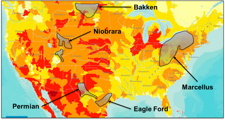 Why Water Scarcity Is A Major Risk For Oil Producers GreenBiz - Water scarcity us map