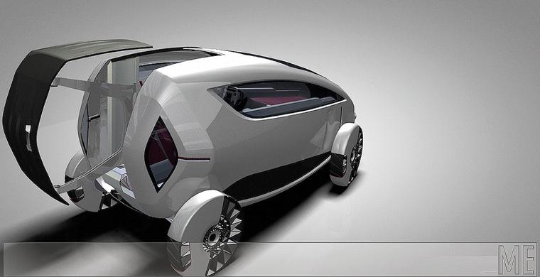 futuristic car sustainable mobility