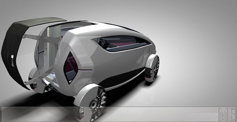 futuristic car sustainable mobility