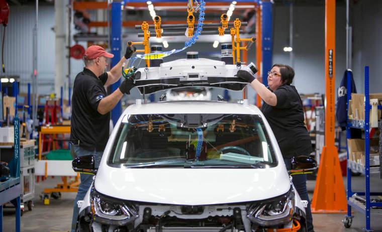 GM Bolt assembly line
