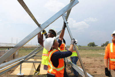 job training while building a shared solar farm