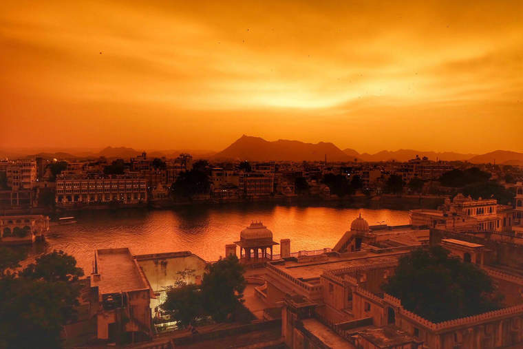 Sunset over Udaipur, India