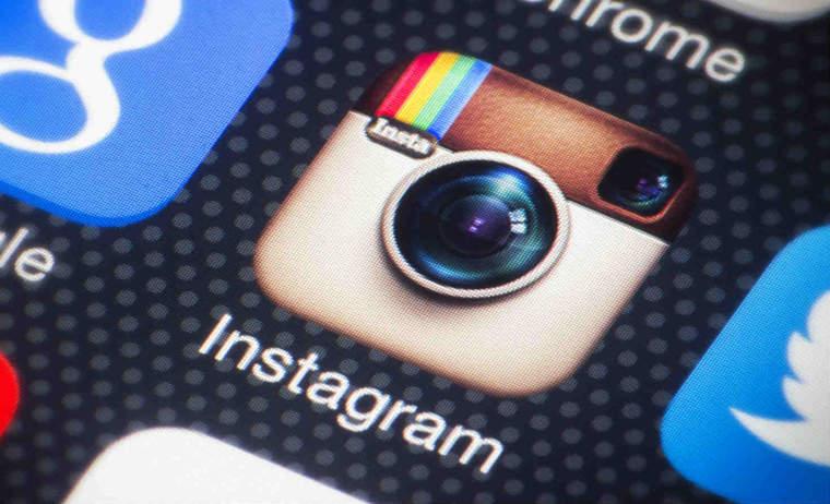 Instagram icon on smartphone