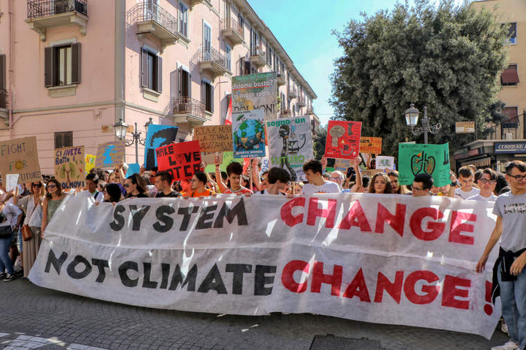 Fridays for Future demonstration against climate change in Taranto, Italy