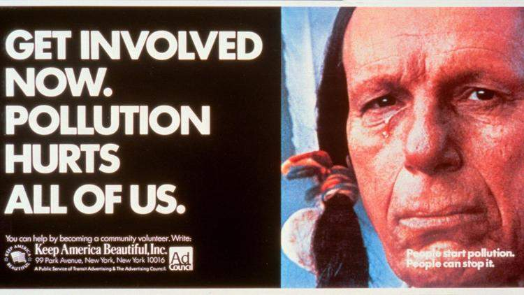 """The """"Crying Indian"""" ad campaign"""