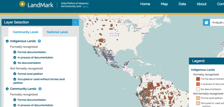 LandMark indigenous map