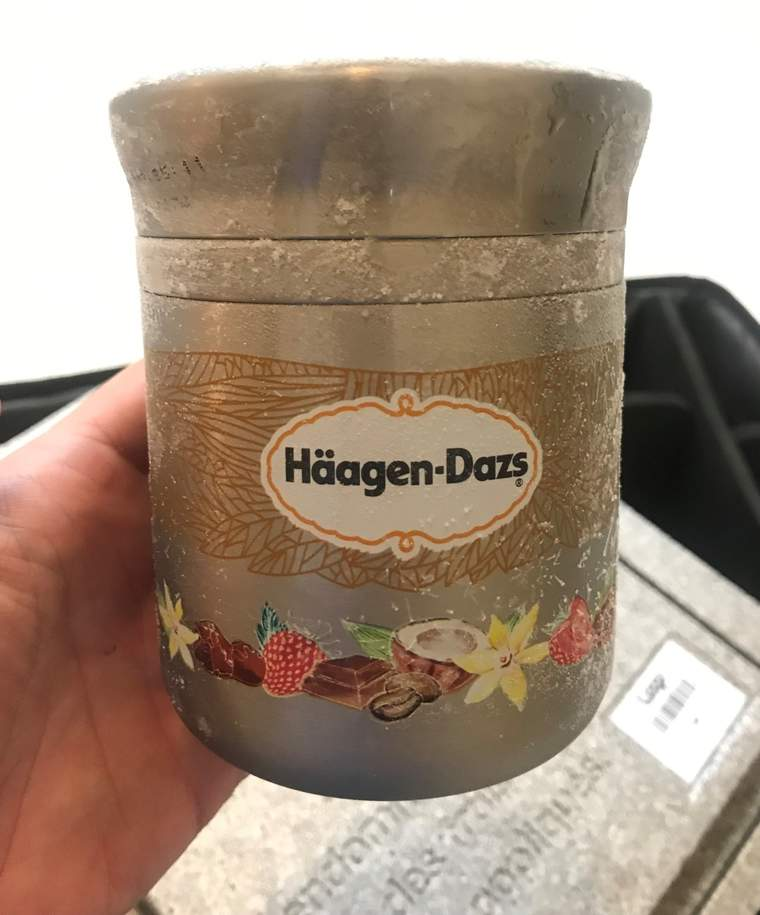 The reusable Haagen Dazs container