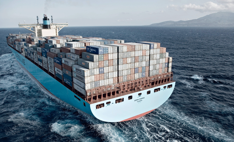 Maersk Shipping Containers