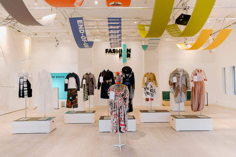 Fashion for Good Experience exhibit