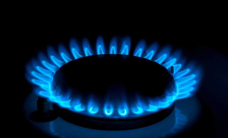 natural gas stove top