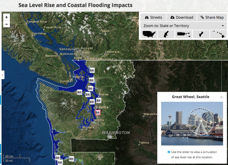 Mapping The Damage From Rising Seas GreenBiz - Water rising map