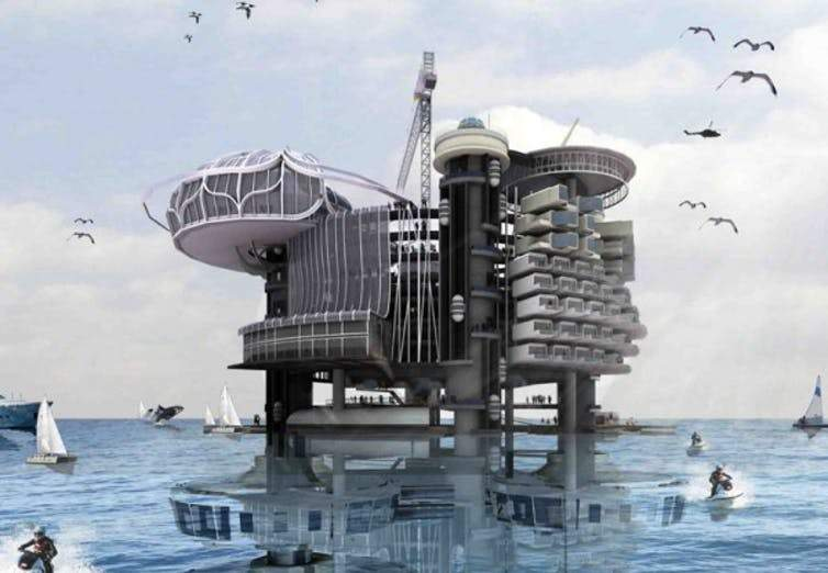 Transforming oil rigs into liveable structures