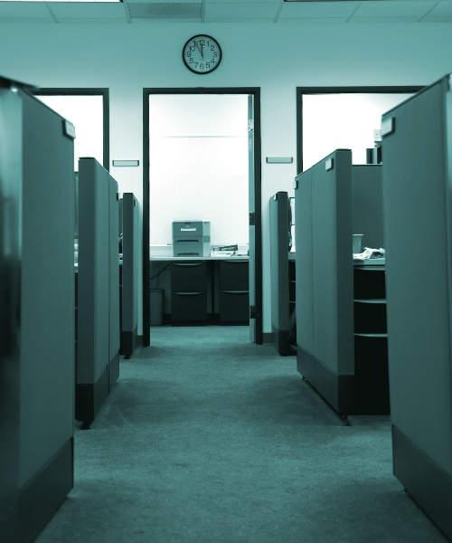 Deserted office
