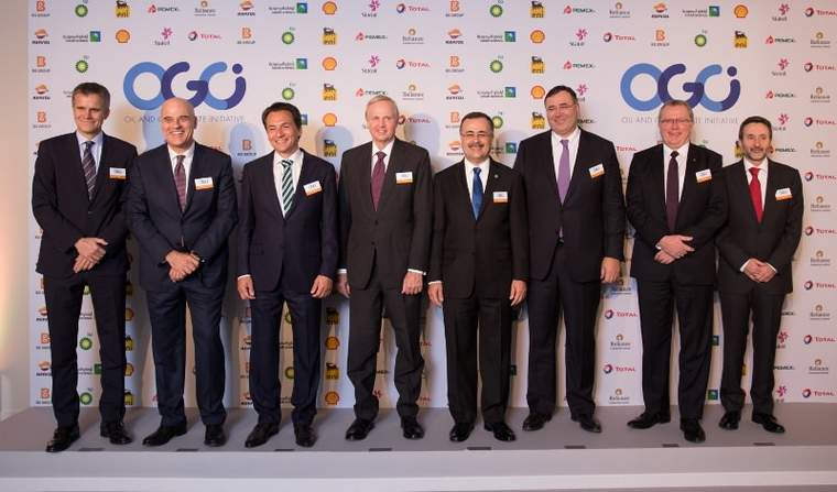 CEOs of OGCI at their Oct. 16 announcement