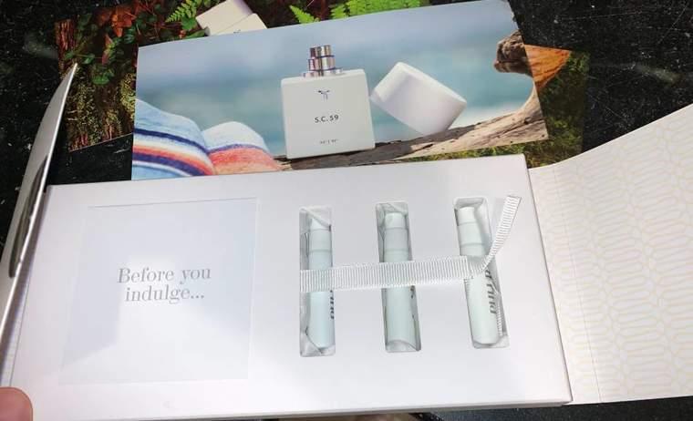 Sample box from fragrance maker PHLUR