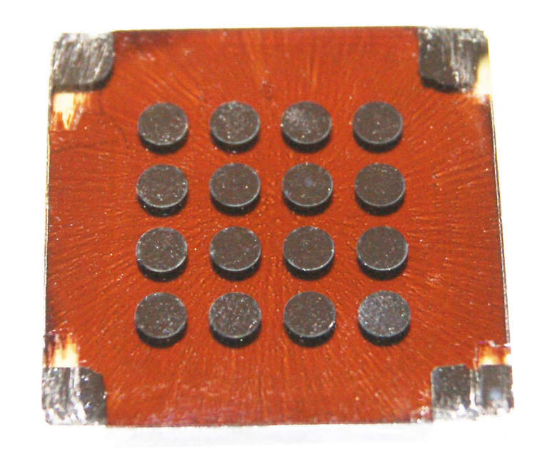 Spin-cast quantum dot solar cell built by the Sargent Group at the University of Toronto.