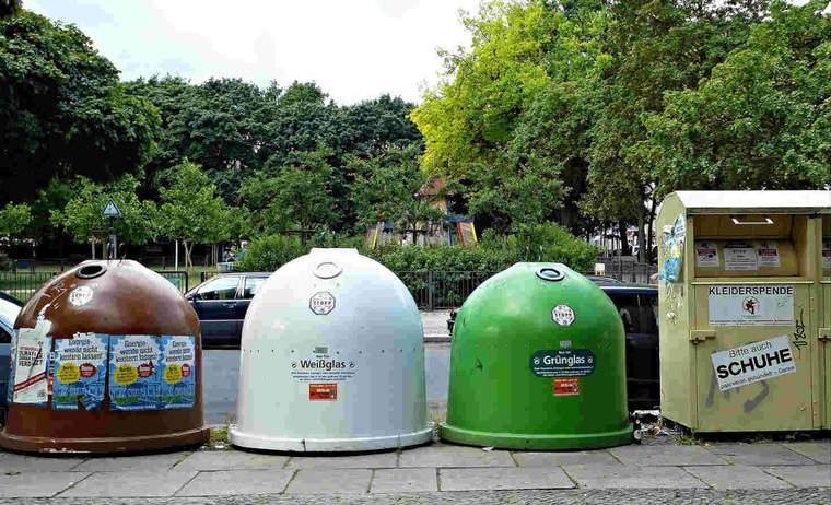 Recycling bins in Germany
