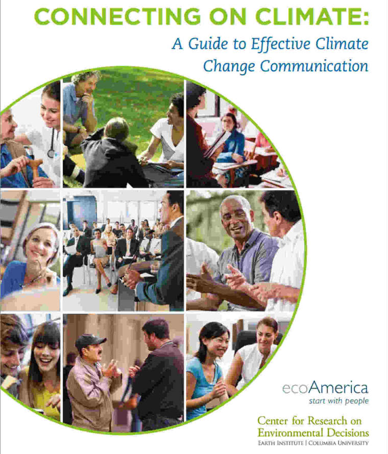 """Connecting on Climate"" report cover"